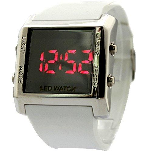 10dw378 a PNP glaenzend Silber Watchcase Alarm Hintergrundbeleuchtung Wasser widerstehen Herren Digitale Armbanduhr