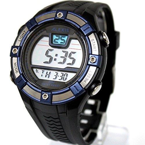 10dw381 C Datum Alarm Hintergrundbeleuchtung PNP matt silber Luenette Wasser widerstehen Herren Digitale Armbanduhr
