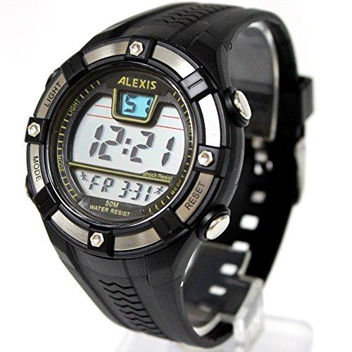 10dw381b Datum Alarm Hintergrundbeleuchtung PNP matt silber Luenette Wasser widerstehen Herren Digitale Armbanduhr