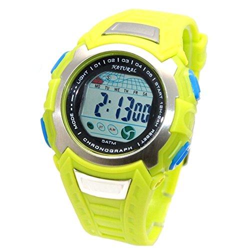 10dw393 a Datum Alarm PNP matt silber Luenette Herren Frauen 100 getestet 3 ATM Digitale Armbanduhr