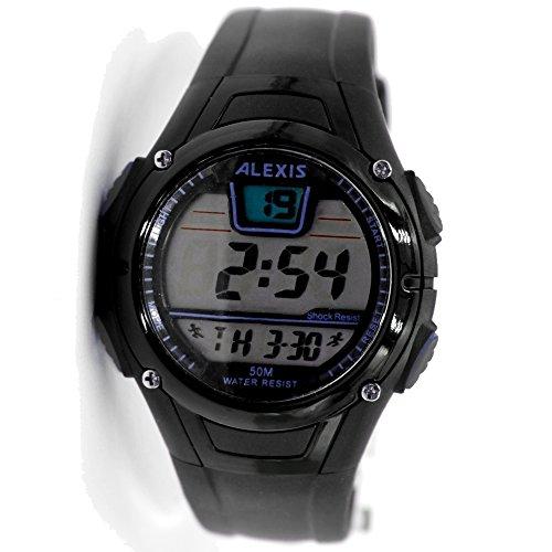 10dw423 C schwarz Watchcase Datum Alarm Hintergrundbeleuchtung Wasser widerstehen Herren Frauen Digitale Armbanduhr