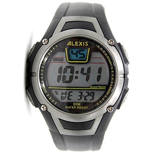 10dw423 a schwarz Watchcase Datum Alarm Hintergrundbeleuchtung Wasser widerstehen Herren Frauen Digitale Armbanduhr