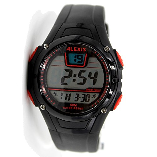 10dw423b schwarz Watchcase Datum Alarm Hintergrundbeleuchtung Wasser widerstehen Herren Frauen Digitale Armbanduhr
