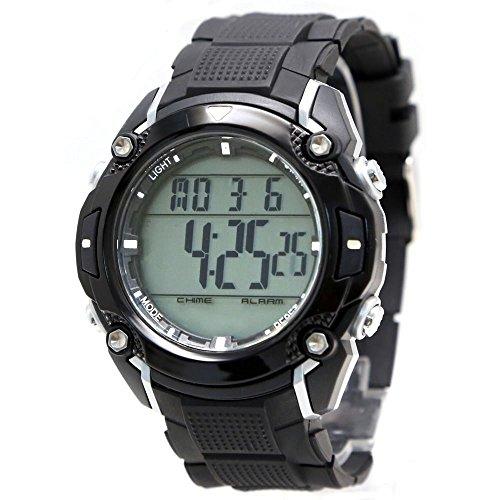 10dw437 a Chronograph Alarm schwarz Luenette Water Resist 100 getestet 3 ATM Digitale Armbanduhr
