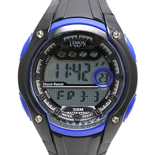 10dw441d schwarz Watchcase Chronograph Datum Wasser widerstehen Boy Girl blau