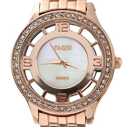 Rose Gold Ton Band Rose Gold Ton Uhrgehaeuse Dame Frauen Mode Uhr