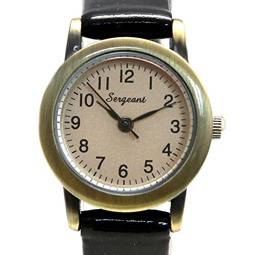 Zifferblatt Neue Gold Ton Schwarz Band Dame Frauen Mode Uhr