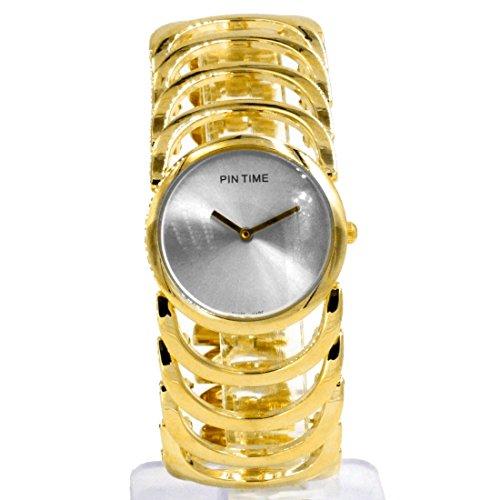 Zifferblatt Neue Silber Rund Dame Frauen Mode Uhr