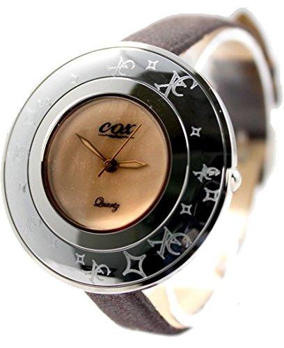 Brown Band PNP glaenzende silberne Uhrgehaeuse Dame Frauen Mode Uhr