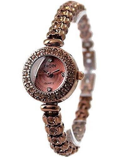 Brown Band Runde Brown Uhrgehaeuse Brown Dial Dame Frauen Armband Uhr
