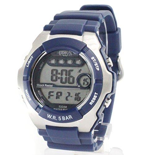 ukdw453 a Chronograph Datum Hintergrundbeleuchtung dunkelblau Luenette Wasser widerstehen Herren Digitale Armbanduhr