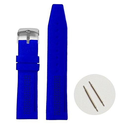 22 mm Classic blau Silikon Jelly Gummi Damen Band Riemen wb1075e22jb