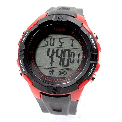DEDW451C Chronograph Alarm BackLight Schwarze Luenette Wasserdicht Unisex Digitaluhr