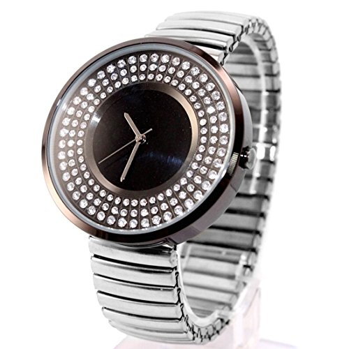 DEFW458J Wasser widerstehen Damen Damen glitzernden Kristall Expansion Band Fashion Watch