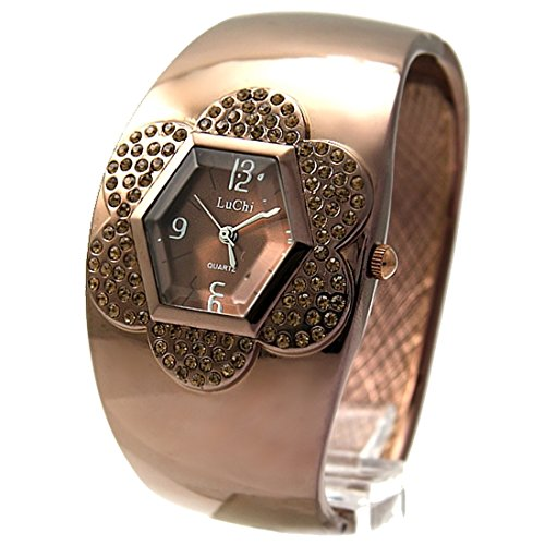 Dial New Brown Brown Band Runde Brown Uhrgehaeuse Dame Frauen Armband Uhr