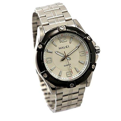 Dial neue weisse glaenzende silberne Band runde PNP glaenzende silberne Uhrgehaeuse Uhr