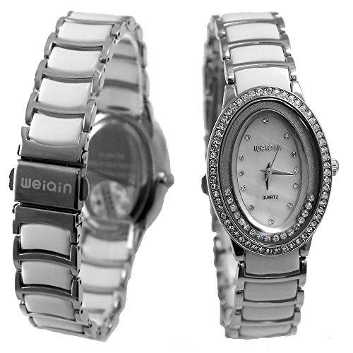 Dial Neue weisse glaenzende silberne Band PNP glaenzende silberne Uhrgehaeuse Mode Uhr