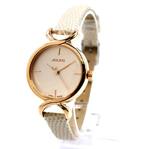 Dial New Rose Gold Ton White Band Rose Gold Ton Uhrgehaeuse Mode Uhr