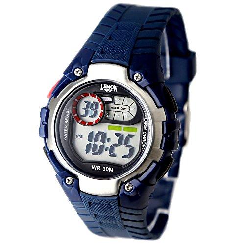 10dw325g dunkelblau Watchcase Chronograph Alarm Wasser widerstehen Junge