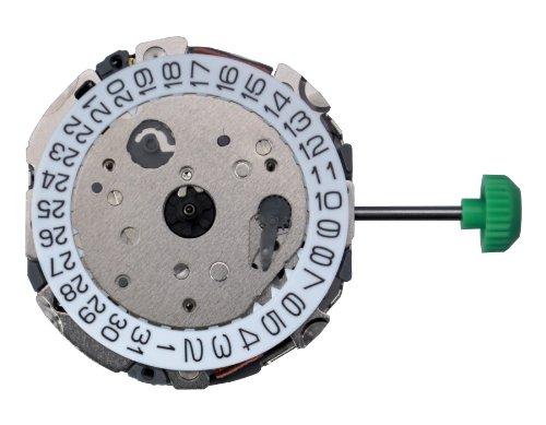 Miyota FS00 3 Augen Chronograph Japan Quarzuhrwerk Slanted Push Button Batterie Stellwelle inklusive