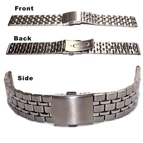 18 mm glaenzend matt neu neu Edelstahl Armbanduhr Band Herren Frauen