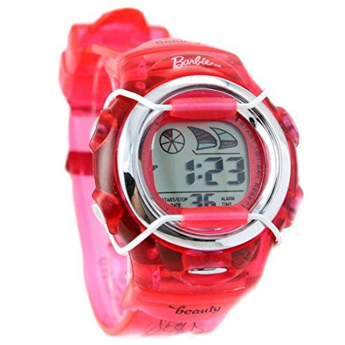 PNP glaenzende silberne Uhrgehaeuse Chronograph Datum Hintergrundbeleuchtung Frauen Digitaluhr