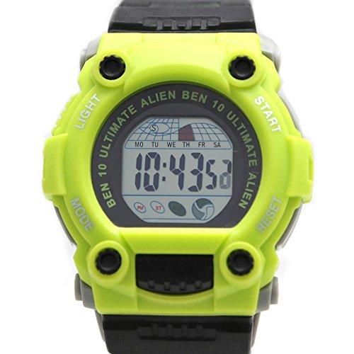 Rund Gruen Uhrgehaeuse Chronograph Datum Alarm Hintergrundbeleuchtung Herren Digitaluhr