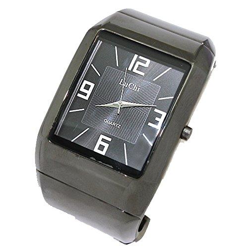 Gunmetal Band Gunmetal Tone Uhrgehaeuse Dame Frauen Mode Armband Uhr