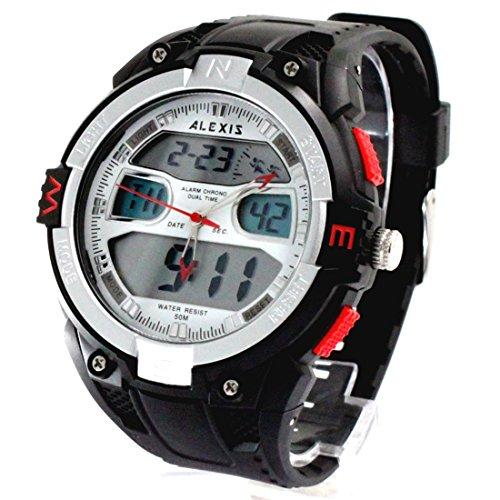 ITAW402A Chronograph PNP Shiny Silver Bezel Digital Water Resist orologio analogico da uomo
