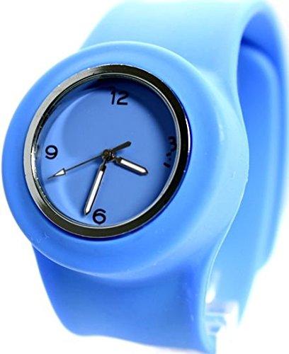 New Light Blue Dial Silikon Light Blue Band Maenner Frauen SNAP Mode Uhr