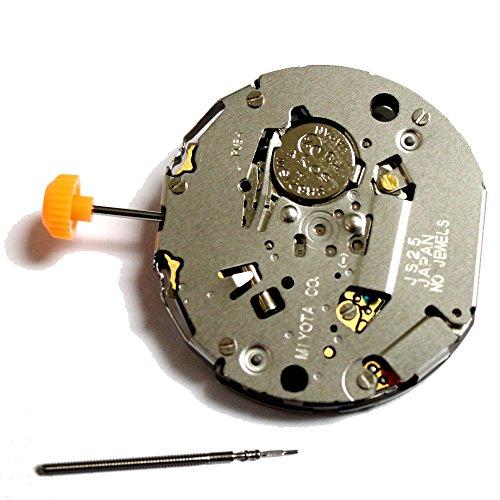 Miyota JS25 Quartz Uhrwerk mit Datum Batterie Einstellung Stem inklusive