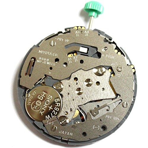 Miyota OS60 Quartz Uhrwerk Batterie Batterie Stellwelle inklusive