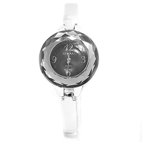 NATURAL glaenzende silberne Band PNP glaenzende silberne Uhrgehaeuse Damen Mode Uhr