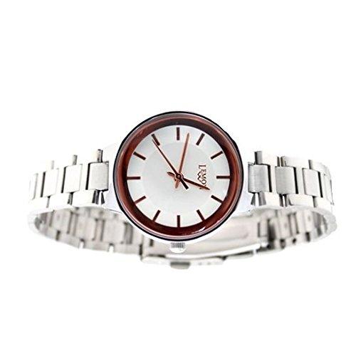Neue glaenzende silberne Band PNP glaenzende silberne Uhrgehaeuse Dame IPS Mode Uhr