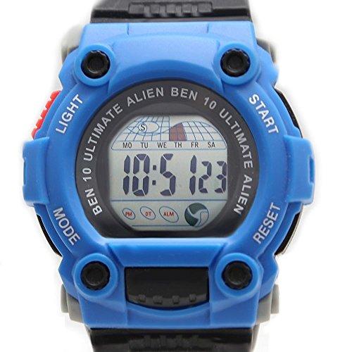 Rund Blau Uhrgehaeuse Chronograph Datum Alarm Hintergrundbeleuchtung