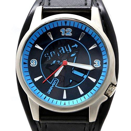 Neue Schwarz Schwarz Band runde PNP glaenzende silberne Uhrgehaeuse Mode Uhr Dial