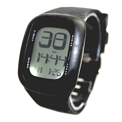 Schwarz Uhrgehaeuse Datum Alarm Hintergrundbeleuchtung Unisex Elegant Touch Digitaluhr