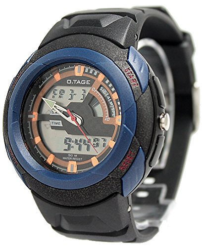 Schwarz Uhrgehaeuse Datum Hintergrundbeleuchtung Maenner Dual Time Elegante Analog Digital Uhr
