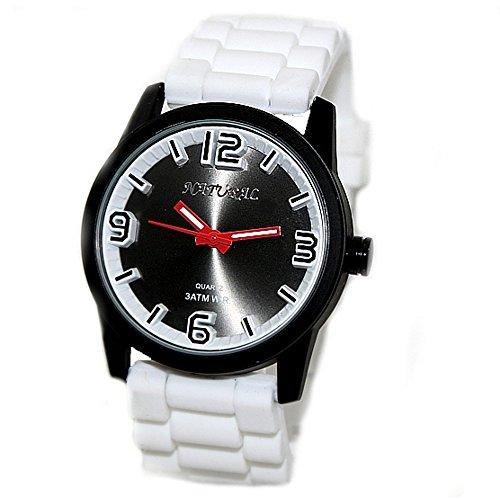 Silikon Weiss 10 fw848b Wasser Band Herren Frauen 100 getestet 3 ATM Fashion Armbanduhr
