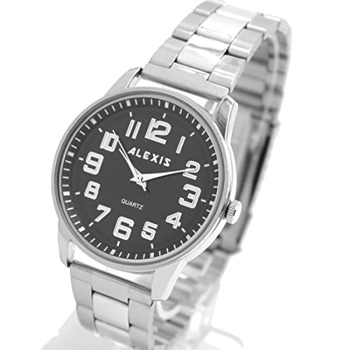 Matt Silver Band runde PNP glaenzende silberne Uhrgehaeuse Mann Frauen Mode Uhr