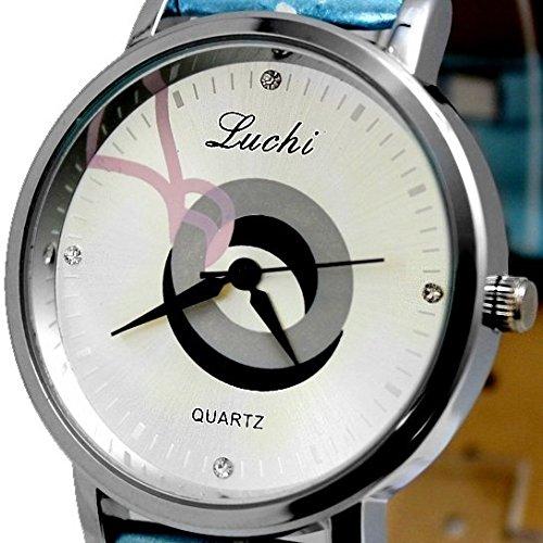 Matt Silver Dial Light Blue Band PNP glaenzende silberne Uhrgehaeuse Mode Uhr
