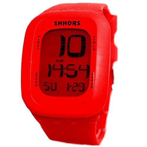 Red Uhrgehaeuse Datum Alarm Hintergrundbeleuchtung Junge Maedchen Elegant Touch Digitaluhr