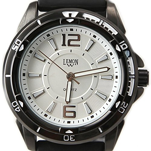 New Black Uhrgehaeuse Wasser wider Silikon schwarz Band Unisex Mode Uhr