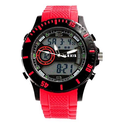 ukaw401 a Datum Alarm Hintergrundbeleuchtung Schwarz Luenette Wasser widerstehen Unisex Analog Digital Armbanduhr