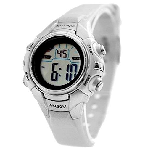 ukdw121l Chronograph Hintergrundbeleuchtung Schwarz Luenette Wasser widerstehen Damen Frauen Digitale Armbanduhr