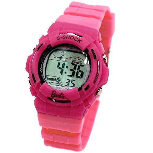 ukdw209g magenta Watchcase Alarm Hintergrundbeleuchtung Wasser widerstehen Damen Frauen Digitale Armbanduhr