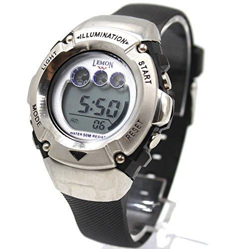 ukdw213lg Chronograph Datum Alarm Hintergrundbeleuchtung Wasser widerstehen Damen Frauen Digitale Armbanduhr