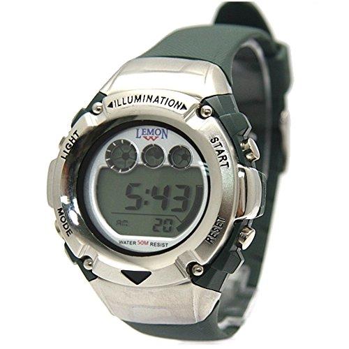 ukdw213mc gruen Band gruen Watchcase Datum Hintergrundbeleuchtung Wasser widerstehen Herren Digitale Armbanduhr