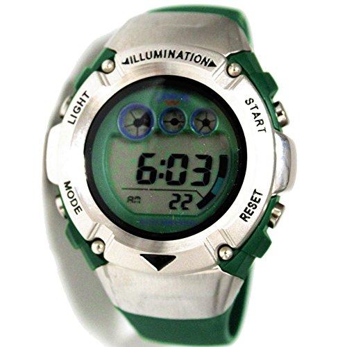ukdw213mh PNP matt silber Watchcase Alarm Hintergrundbeleuchtung Wasser widerstehen Herren Digitale Armbanduhr
