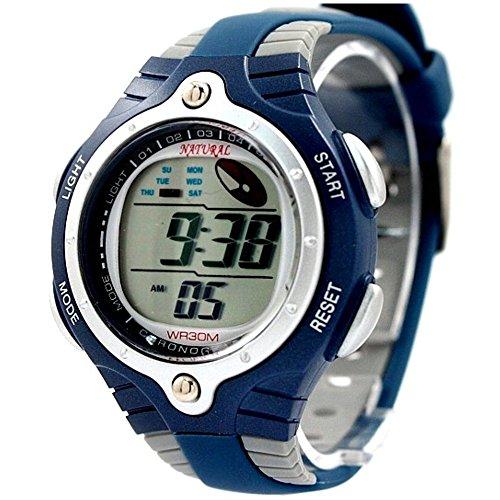 ukdw216ma graywatchcase Alarm Hintergrundbeleuchtung blau Luenette Wasser widerstehen Herren Digitale Armbanduhr